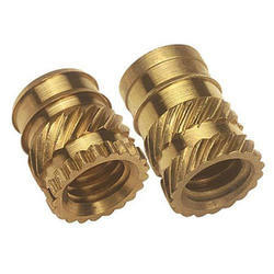 Brass Round Moulding Insert, Packaging Type: Plastic Bag