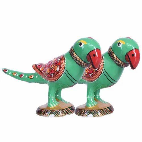 Khanak Home Decor Aluminum Parrot