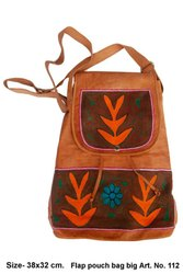 Leather Embroidery Back Pack