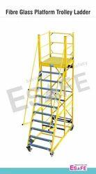 Fibre Glass Platform Trolley Ladders