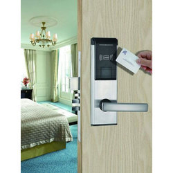 Slyder Stainless Steel Electronic Hotel Lock, Brushed silver
