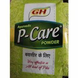 GH P Care Piles Ayurvedic Powder, Packaging Type: Packet