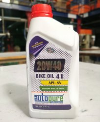 Autopure 20W40 SN 4T Bike Engine Oil