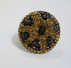 Rhinestone Finger Ring