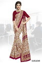 Italian Crepe Printed Uniform Saree