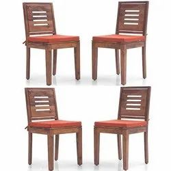 45*45*84 New Solid Wood Dining Chairs, Finish: Teak And Walnut