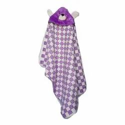 Little Cubs Check Baby Hooded Blanket