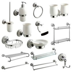 Stainless Steel silver Bathroom Accessories, For Home, Size: Adjustable