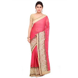 Party Wear Ladies Embroidered Saree