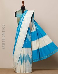Silk Cotton Formal Wear Ekkat handloom Cotton Sarees, 6.3 m (with blouse piece)