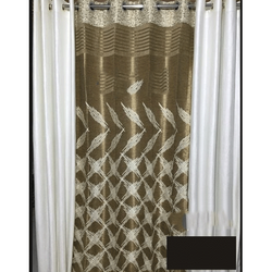 Printed Designer Silk Curtain