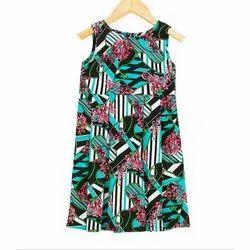 Kids Girls Aqua Cotton Day Dress
