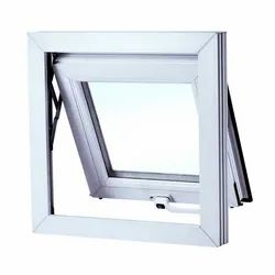 Lesso White UPVC Top Hung Windows, Glass Thickness: 5mm Clt
