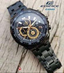 Men Round Casio Edifice Watches