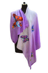Silk Wool Ombre D.P. Patchwork Stoles