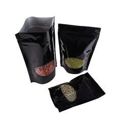 Black Oval Window Stand Up Pouches