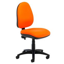 Orange Armless Computer Chair