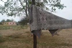 Cotton Dabu Printed Dhurrie Cotton Indoor Rug Handmade Indian Carpet Cotton Floor Rug