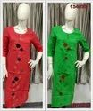 13457 SOUTH COTTON APPLIQUE KURTAS