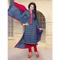 Designer Churidaar Cotton Suit