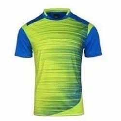 Polyester Printed Half Sleeve Sport T Shirt, Size: S-XXXXL