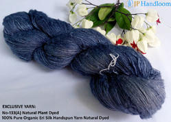 Plant Dyed Eri Spun Silk Yarn - Oxford Blue