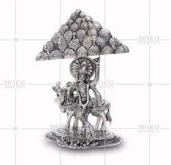 White Metal Krishna Govardhan