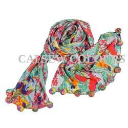 Crepe Long Scarves