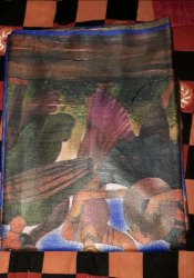 Tussar Silk Digital Printed Saree