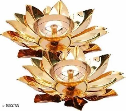 Brass and Copper Lotus Diya