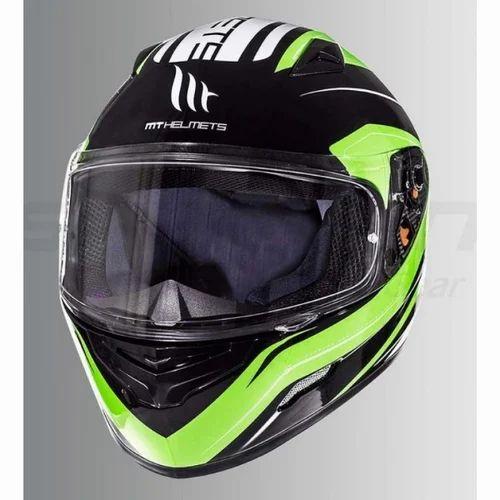 Mt Mugello Maker Gloss Fluorescent Yellow Full Face Helmet प र