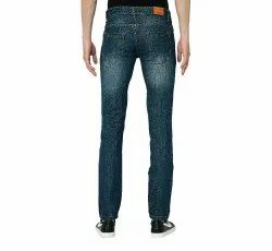 Faded Jeans Slim Fit Non Stratch Denims Trousers