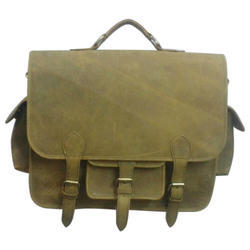Brown Leather Messenger Bags, Pure Leather: Yes