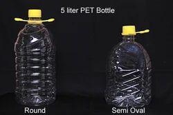 Hi-Tech Plastic 5 Liter Bottle, Packaging Type: Polypack