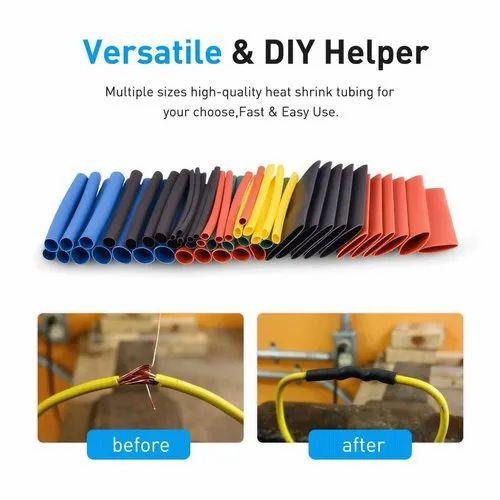 Techtest Multicolor Heat Shrinkable Sleeves Tubing PVC Shrink Tube -560Pcs