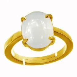 Moonstone Ring Silver Men and Women Panchdhatu Gemstone