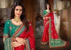 Shri Balaji Art Silk Designer Saree Embroidery Jacquard