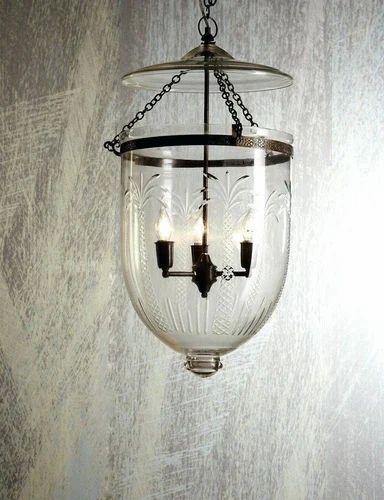 Small Lantern Urban Lighting Bell Jar Pendant Light Gl