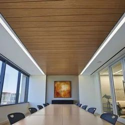Laminated Brown PVC Ceiling Panel, For Office, Thickness: 7mm