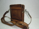 Vintage Leather Teeny Messenger Bag