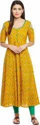 Stitched Casual Wear Yellow Kurti