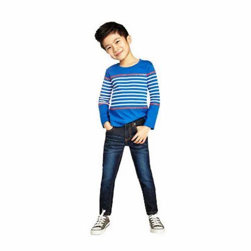 Denim Casual Wear Boy Kids Jeans, Rs