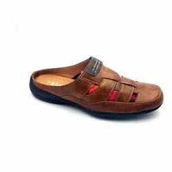 Black,Brown & Tan Men Slip On Synthetic Leather Slipper
