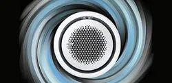 Ceiling White & Black Samsung 360 Round Cassette AC