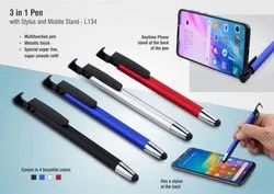 L134 - 3 in 1 Pen With Stylus And Mobile Stand