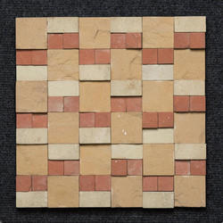 Sandstone Mix Color 3d Wall Mosaic