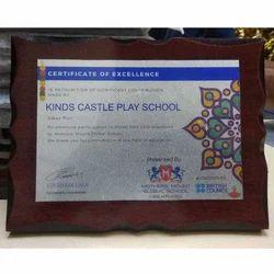 Wooden Certificate Trophy