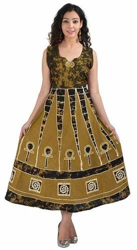 Cotton Printed Rajasthani Midi Frock 4039f8f6d
