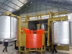 4 Arm Biaxial Rotomoulding Machine
