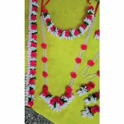 Red And White Flower Jewellery